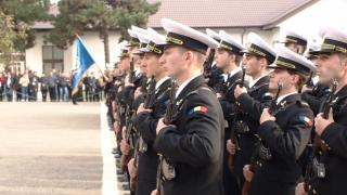 Moment important pentru bobocii Forțelor Navale Române