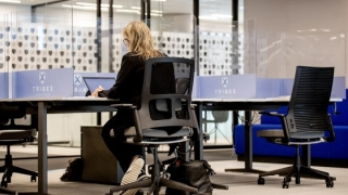 Munca la birou în timpul pandemiei. Angajaţii preferă să lucreze de acasă decât să stea cu masca pe faţă toată ziua