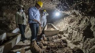 Cincizeci de mumii, descoperite într-un mormânt faraonic din Egipt
