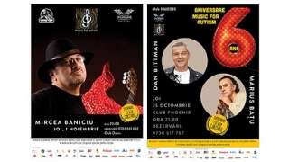 """""""Music for Autism"""": Mircea Baniciu, Dan Bitman și Marius Batu, la Constanţa"""