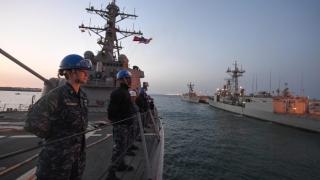 Navă militară americană în Portul Constanța