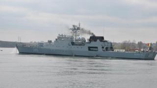 O navă militară românească ia parte la un exercițiu multinațional de luptă în Marea Mediterană