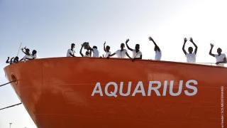Nava umanitară Aquarius a acostat în portul francez Marsilia