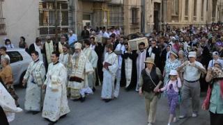 Procesiune religioasă în Năvodari, de Sf. Parascheva