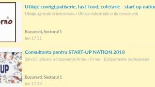 "Proiecte ""Start-up"" vândute pe OLX"
