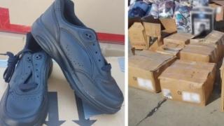 Pantofi sport din SUA, confiscaţi de poliţişti! Vezi de ce