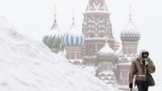 Moscova, paralizată de zăpadă!