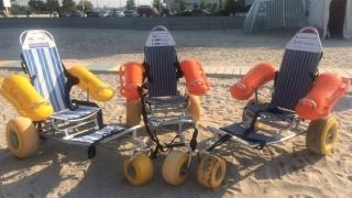 Plajă  accesibilă pentru persoanele cu dizabilităţi, în Mamaia