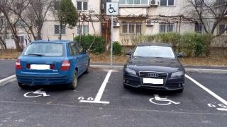Constanța. Mașini ridicate pentru că ocupau locuri destinate persoanelor cu dizabilități