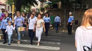 Polițiștii constănțeni, la şcoală în prima zi de… şcoală