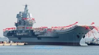 Portavion chinez construit 100% de Beijing, în teste pe mare