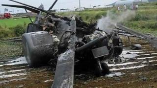 O nouă tragedie! Elicopter prăbuşit! 5 pasageri au murit pe loc