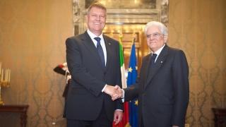 """Președintele Italiei: """"Relaţiile cu România, la nivel excelent"""""""