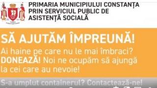 Proiect social al Primăriei Constanța: ''Să ajutăm împreună''