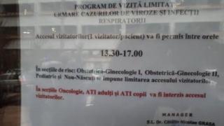Când este permis accesul vizitatorilor în Spitalul Județean Constanța?