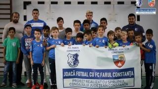 """Acțiuni în cadrul proiectului """"Joacă fotbal cu FC Farul Constanța"""""""