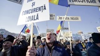 Sute de pădurari protestează în Capitală fiind nemulțumiți de situația pădurilor