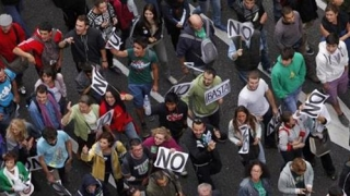 Proteste ample în Madrid! Zeci de mii de oameni, în stradă
