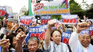 Proteste impresionante la Okinawa împotriva prezenței militare americane