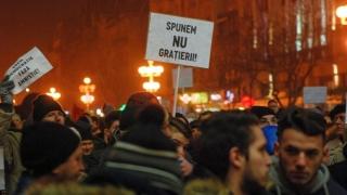 Noi proteste în Capitală împotriva grațierii