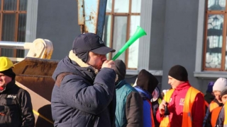 Protest cu utilaje grele în Portul Constanța