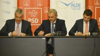PSD semnează protocolul de guvernare cu ALDE