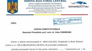 BEC admite că s-a comis o eroare la referendum