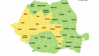 Capitala şi 13 judeţe se află în scenariul galben de infectări cu SARS-CoV-2. Constanța se află în scenariul verde