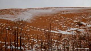 A nins în deşertul Sahara pentru prima dată după 47 de ani