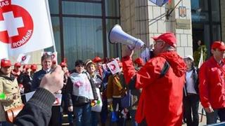 """""""Sanitas"""" a pichetat Ministerul Finanțelor Publice. Cotinuă protestele!"""