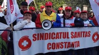 """""""Sanitas"""" Constanța, LA PROTESTUL de pichetare a Ministerului Muncii!"""