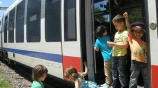 """""""Școală Altfel"""" cu trenul"""