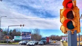 Roșul semafoarelor ia forma unei inimioare, la Constanța