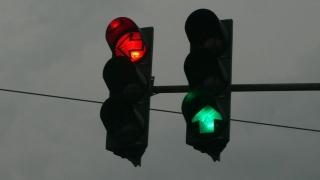 Semafor rupt, pe strada Pandurului din Constanța