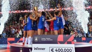 Serbia a cucerit şi titlul european la volei feminin