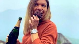 De ziua sa, Halep a desfăcut o sticlă de şampanie la Marele Zid Chinezesc