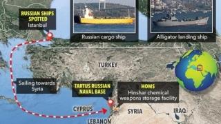 Navele de război ale Rusiei se îndreaptă spre Siria. Situaţia în zonă redevine explozivă