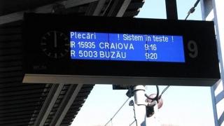 Gara de Nord Bucureşti - sistem electronic de informare a publicului călător