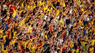 Stadion arhiplin la meciul România - Suedia