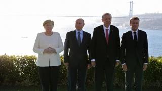 Putin, Erdogan, Macron şi Merkel cer menţinerea armistiţiului şi o nouă constituţie în Siria