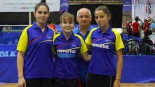 Constănţencele au obţinut cinci medalii la Campionatele Balcanice de tenis de masă
