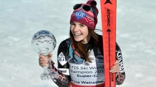 Tina Weirather a câștigat globul de cristal la Super-G