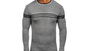 Ținute casual cu pulover pentru bărbați: puloverul  cu dungi