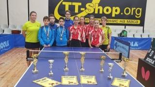 """Clasări pe podium la concursul internațional """"Young Hopes"""" la tenis de masă"""