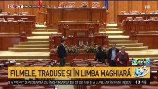 Vot în Parlament: Filmele vor fi traduse și în limba maghiară