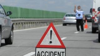 Trafic blocat pe Autostrada Soarelui, din cauza unui accident între două TIR-uri