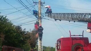 Tragic! Constănțean electrocutat pe un stâlp!