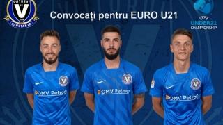 Trei fotbaliști de la FC Viitorul Constanța sunt în lotul României pentru EURO U21