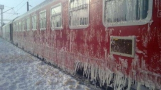 Şase trenuri au fost anulate din cauza frigului