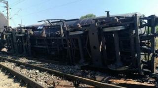 Tren aparţinând SRCF Constanţa, deraiat! Traficul feroviar în zonă, blocat